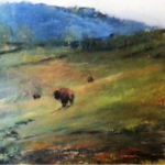 Bison at Chasm Spring (Sold)